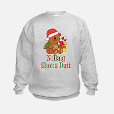 Nollaig Shona Duit Irish Child Sweatshirt