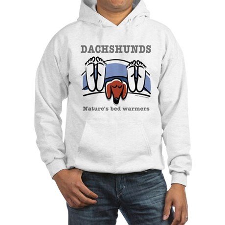 Dachshund bed warmers Hooded Sweatshirt