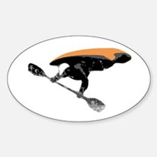 Air-Kayak Oval Bumper Stickers