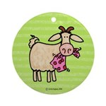 Goat VII Ornament (Round)