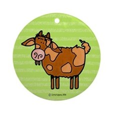 Goat V Ornament (Round)