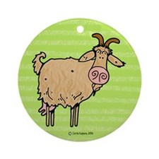 Goat Ornament (Round)