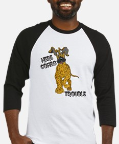 N Brindle Trouble Pup Baseball Jersey