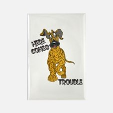 N Brindle Trouble Pup Rectangle Magnet
