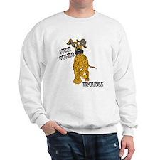 N Brindle Trouble Pup Sweatshirt