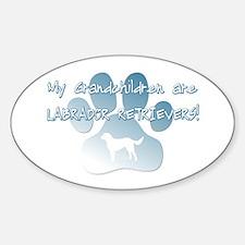 Labrador Grandchildren Oval Decal