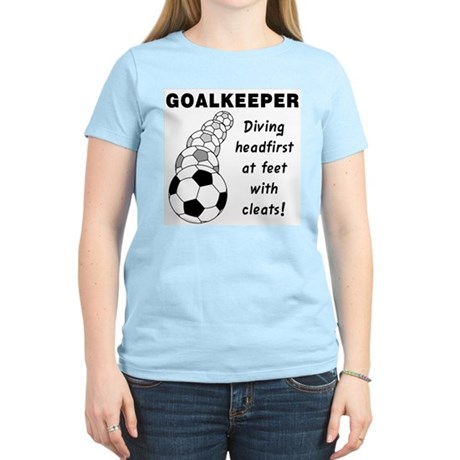 Soccer Goalkeeper Women's Light T-Shirt