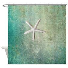Single starfish Shower Curtain