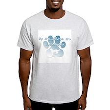 Black Lab Grandchildren Ash Grey T-Shirt