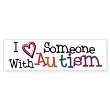 Autism Awareness Love Bumper Car Sticker