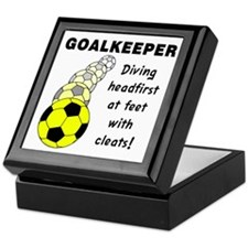 Soccer Goalkeeper Keepsake Box