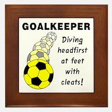 Soccer Goalkeeper Framed Tile
