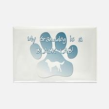 Black Lab Granddog Rectangle Magnet (10 pack)