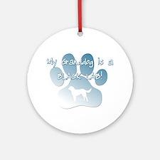 Black Lab Granddog Ornament (Round)