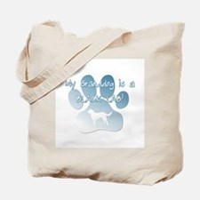Black Lab Granddog Tote Bag