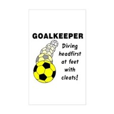 Soccer Goalkeeper Rectangle Decal