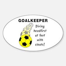 Soccer Goalkeeper Oval Decal
