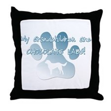 Chocolate Lab Grandchildren Throw Pillow