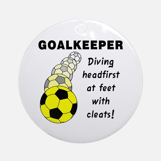 Soccer Goalkeeper Ornament (Round)