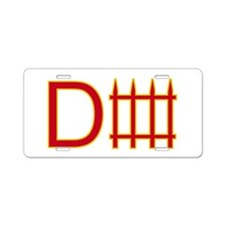 Defense red yellow Aluminum License Plate