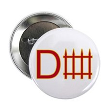 """Defense red yellow 2.25"""" Button"""