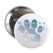 Chocolate Lab Granddog Button