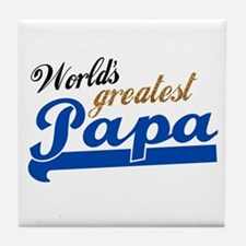 Worlds Greatest Papa Tile Coaster