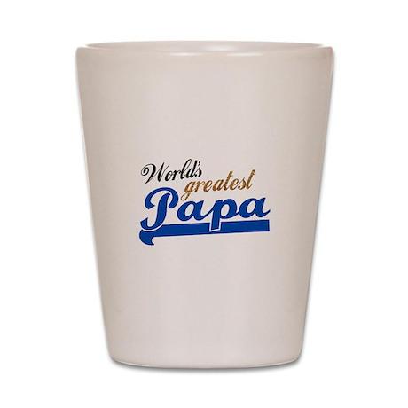 Worlds Greatest Papa Shot Glass