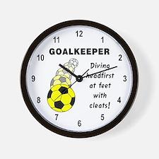 Soccer Goalkeeper Wall Clock