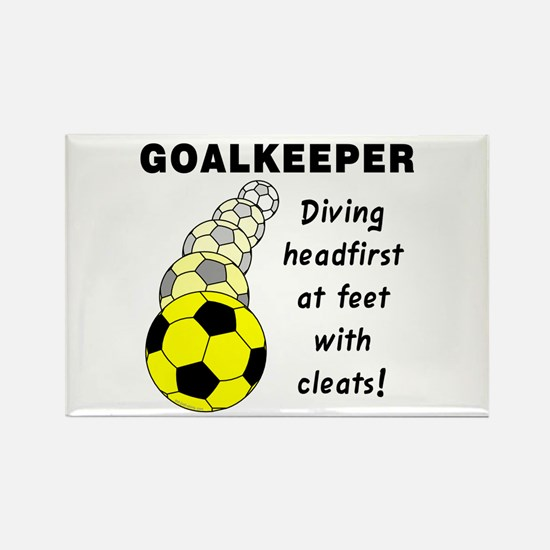 Soccer Goalkeeper Rectangle Magnet (10 pack)
