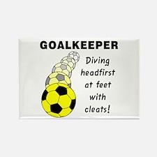 Soccer Goalkeeper Rectangle Magnet