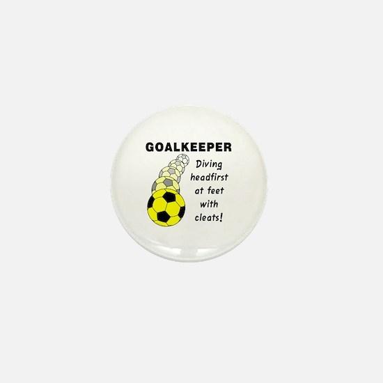 Soccer Goalkeeper Mini Button