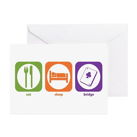 Eat Sleep Bridge Greeting Cards (Pk of 10)