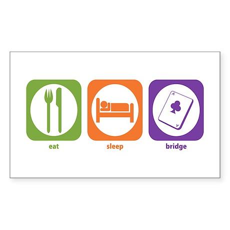 Eat Sleep Bridge Rectangle Sticker