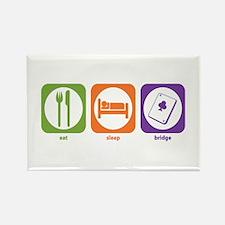 Eat Sleep Bridge Rectangle Magnet