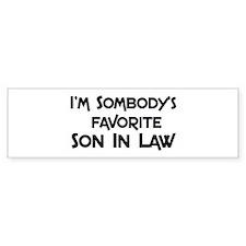 Favorite Son In Law Bumper Bumper Sticker