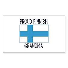 Proud Finnish Grandma Rectangle Decal