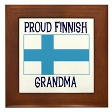 Proud Finnish Grandma Framed Tile