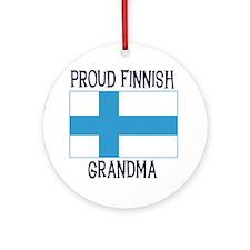 Proud Finnish Grandma Ornament (Round)