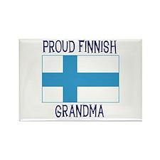 Proud Finnish Grandma Rectangle Magnet
