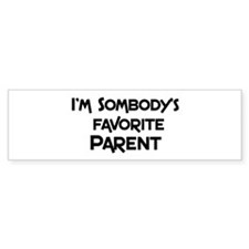 Favorite Parent Bumper Bumper Sticker
