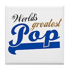 Worlds Greatest Pop Tile Coaster