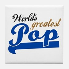 Worlds Greatest Pop Tile Coaster