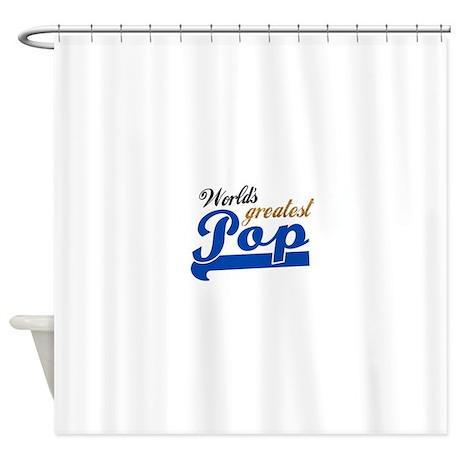 Worlds Greatest Pop Shower Curtain