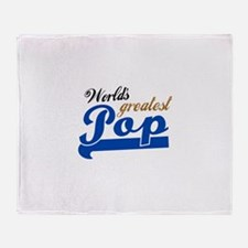 Worlds Greatest Pop Throw Blanket