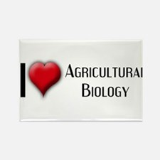I Love (Heart) Agricultural B Rectangle Magnet