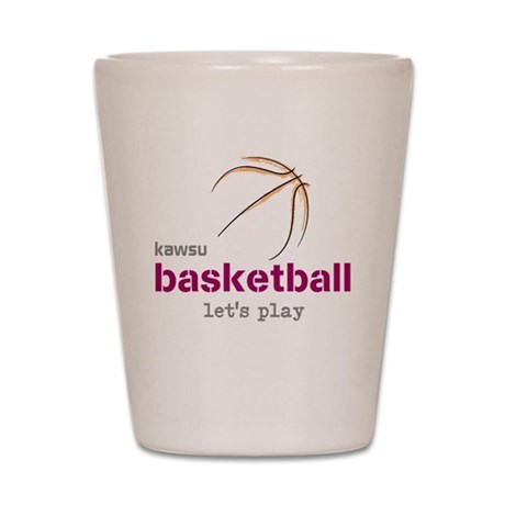 kawsu basketball Shot Glass