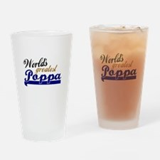 Worlds Greatest Poppa Drinking Glass