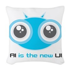 AI is the new UI Woven Throw Pillow