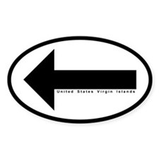 US VI Keep Left Arrow Oval Decal (50 pk) Decal